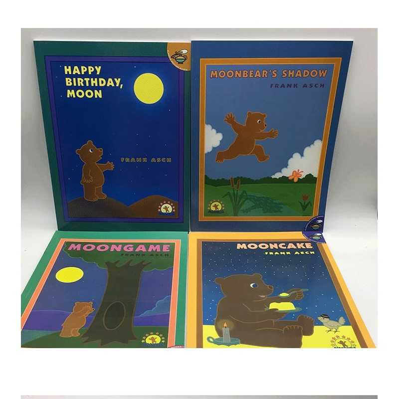 4 Books/set Happy Birthday Moon/moon Game/moon Bear Learning English Story Coloring Books For Children In English Language