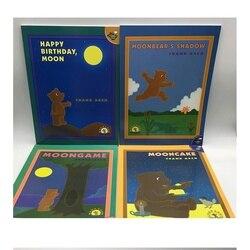 4 książki/zestaw z okazji urodzin księżyc/gry księżyca/księżyc niedźwiedź nauka angielski historia kolorowanki dla dzieci w języku angielskim| |   -