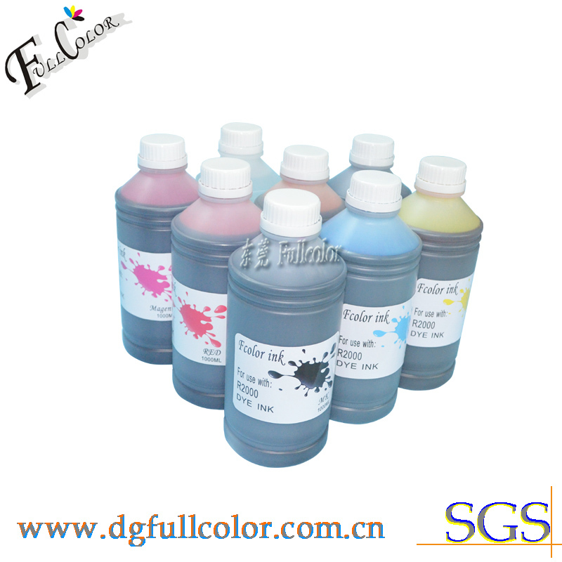 Free shipping 8000ML set sublimation ink refill kit for R2000 printer inks transfer printing