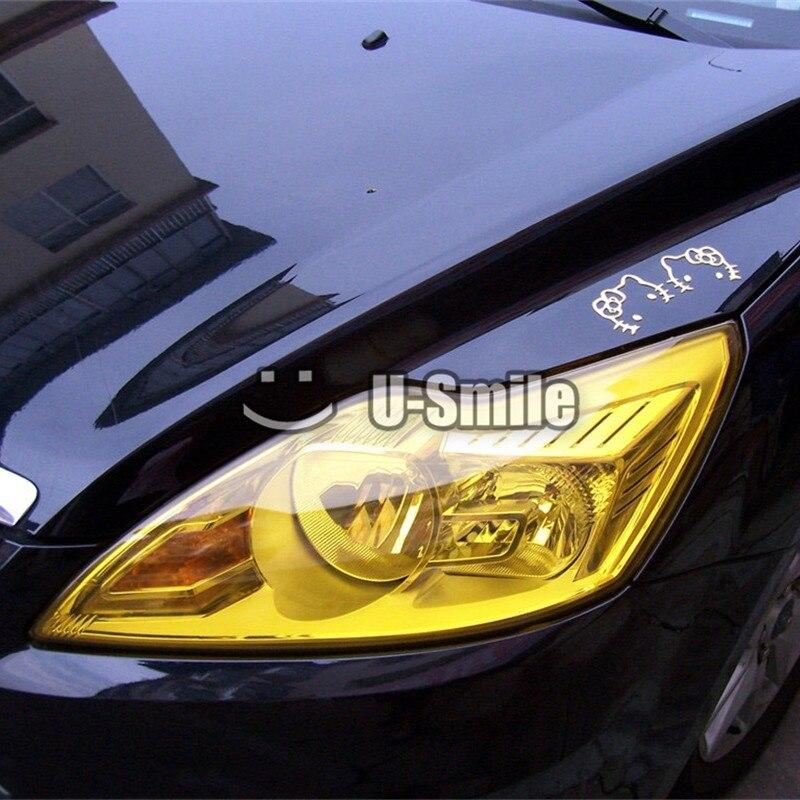 14 Rolls Lot Glossy Auto Car Smoke Fog Light Headlight Vinyl Taillight Tint Film Sheet Sticker