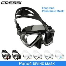 b8ce198bd Cressi PANO 4 Wide View Mergulho Máscara de Mergulho de Silicone Saia Três- Panorâmica Lente