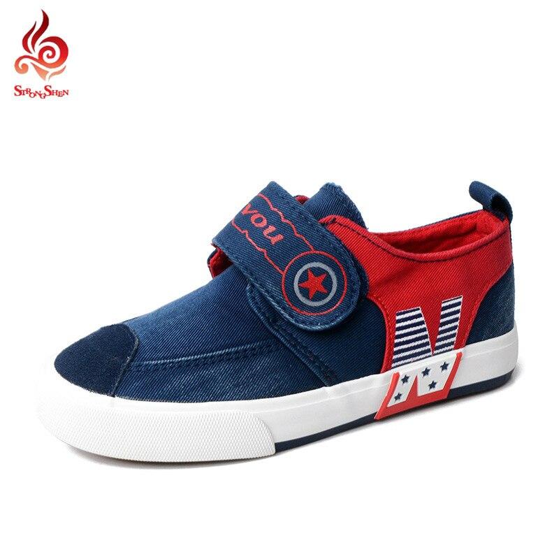 Niños Alpargatas Slip On Zapatos de Los Niños Zapatos de Lona Niños Niñas Carta Impresión Zapatos