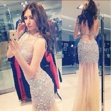 Cianlsria robes de cristal 2019 luxury sexy prom dress
