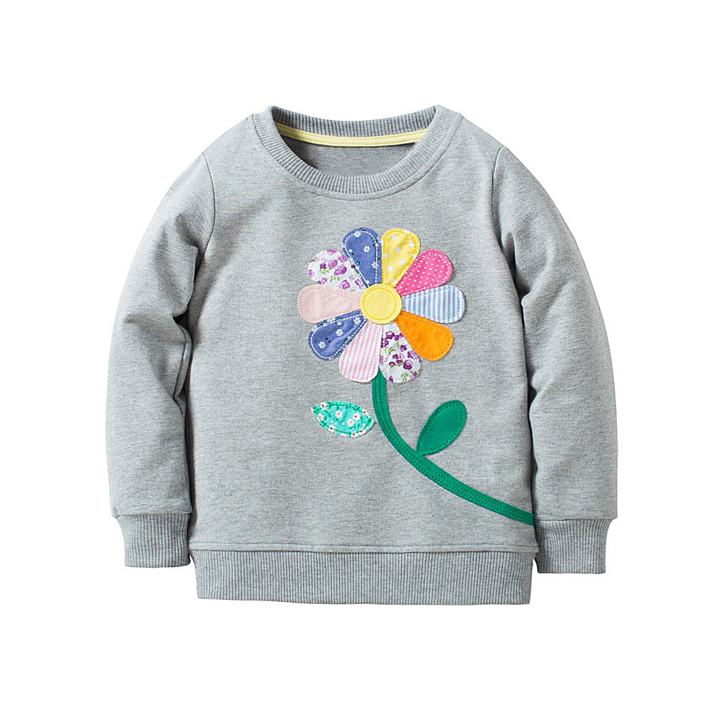HTB1EHZuc6qhSKJjSspnq6A79XXaT - Girls High Quality Long Sleeve 100% Cotton Crew Neck Long Sleeve Sweatshirt