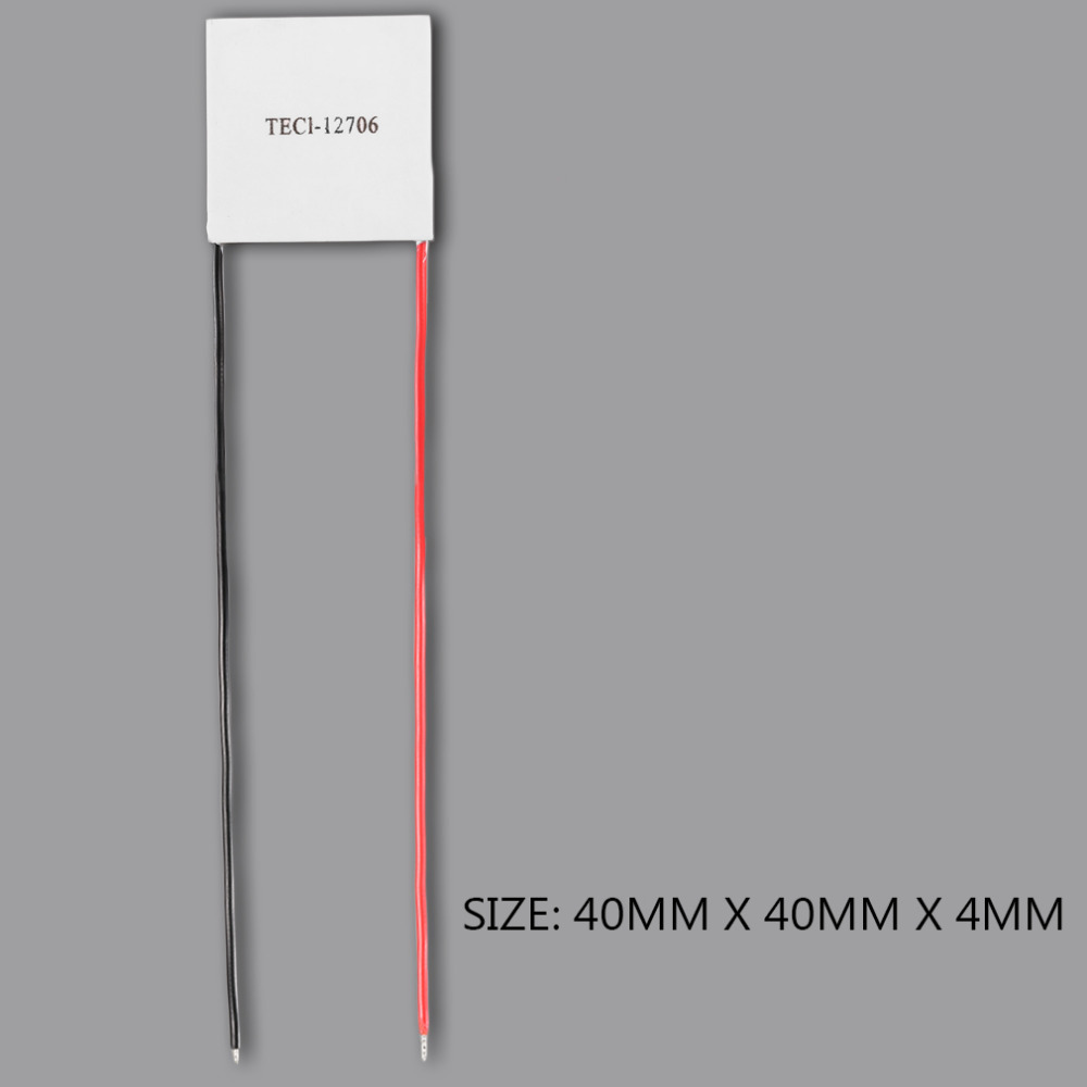 1Pc 40 40mm Thermoelectric Power Generator High Temperature Generation Element Peltier Module TEC High Temperature 150 degree in Fans Cooling from Computer Office