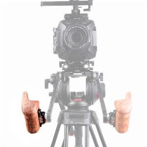 SmallRig для Sony a7II/a7RII/a7SII клетка для камеры с правой стороны деревянная ручка с ARRI розеткой для крепления на плече поддержка Rig-1941