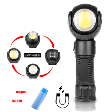 KARRONG LED Flashlight 360 Degree T6+COB Torch 8000LM Waterproof Magnet Mini Lighting Outdoor 18650 Battery Camping