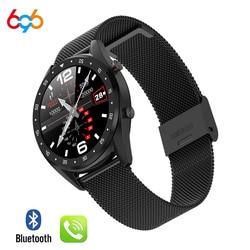 696 L7 BTcall SmartWatch zegarek sportowy ekg + PPG HRV raport tętno Test ciśnienia krwi IP68 wodoodporny inteligentny PK N58 inteligentny cloc|Inteligentne zegarki|Elektronika użytkowa -