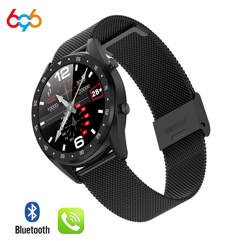 696 <font><b>L7</b></font> BTcall <font><b>SmartWatch</b></font> Sports Watch ECG+PPG HRV Report Heart Rate Blood Pressure Test IP68 Waterproof Smart PK N58 smart cloc image