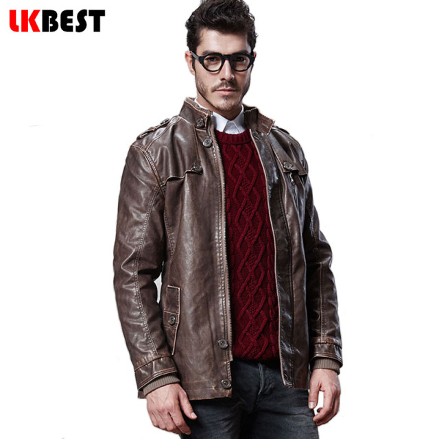 2017 Plus size M-4XL long men suede jacket winter warm men's leather jackets and coats fashion PU biker jacket 3 colors (PY007)