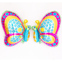New Arrival 50pcs/lot Butterfly Foil Balloon 50*57 colorful Ballon air globos animal for Party Decoration good balls