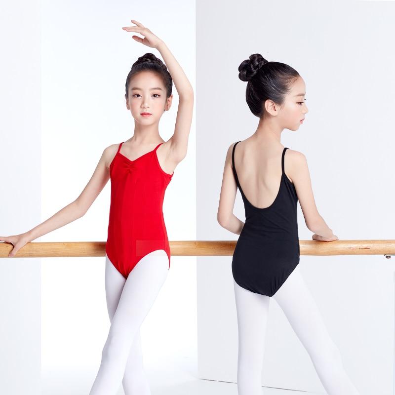 Collant de balé para meninas traje de balé profissional para crianças azul vermelho collant de ginástica traje de dança trajes de banho para meninas
