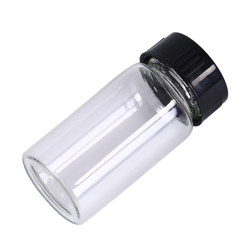 1pcs Clear Lab Small <font><b>Glass</b></font> <font><b>Vials</b></font> <font><b>Bottles</b></font> Containers <font><b>With</b></font> Black <font><b>Screw</b></font> <font><b>Cap</b></font> Liquid Sampling Sample <font><b>Glass</b></font> <font><b>Bottles</b></font> <font><b>20ml</b></font> image