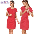Emoção Mães Vestidos de Manga Curta roupas de Maternidade de Verão Vestido de Enfermagem Amamentação para As Mulheres Grávidas Vestidos de Maternidade