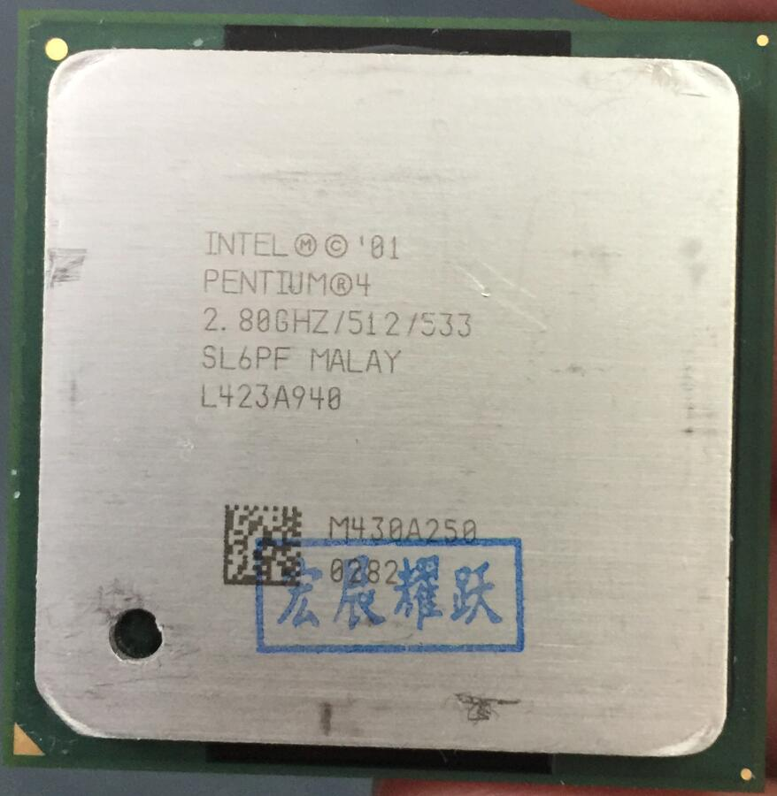 Intel Pentium 4 2.8 GHz P4 2.8G Socket 478 512 M 533 SL6PF spécifications P4 2.8 Desktopprocessor CPU