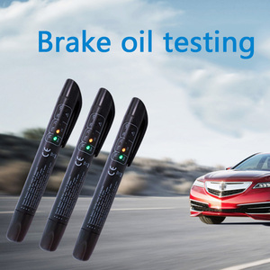 Image 3 - Hamulec samochodowy Tester płynów samochodowe narzędzia diagnostyczne 5 diod led testowanie płynu hamulcowego dokładny olej jakość sprawdź pióro dla DOT3/DOT4 PRY Tool
