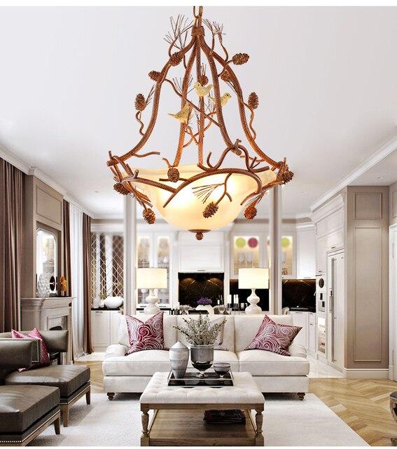 Europa soort droplight landelijke zitkamer hanger lampen ijzer art ...