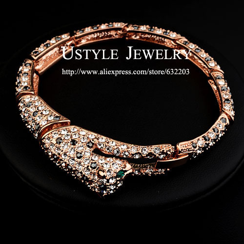 Fashion  Rose Gold Plated Rhinestones Inlaid Fox Beauty Bracelet (Ustyle JB0031A)