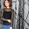 Black Sexy Embroidered Lace Fabric Mesh Tulle Fabrics Fashion Telas Cloth Tecidos De Patchwork Cheap Tissus