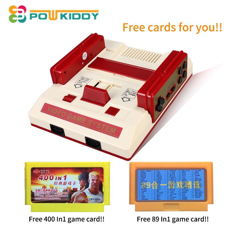 Новый игровой консоли к ТВ с Беспроводной геймпад HD ТВ для 8 бит Семья ТВ игры с бесплатная два игровых карт