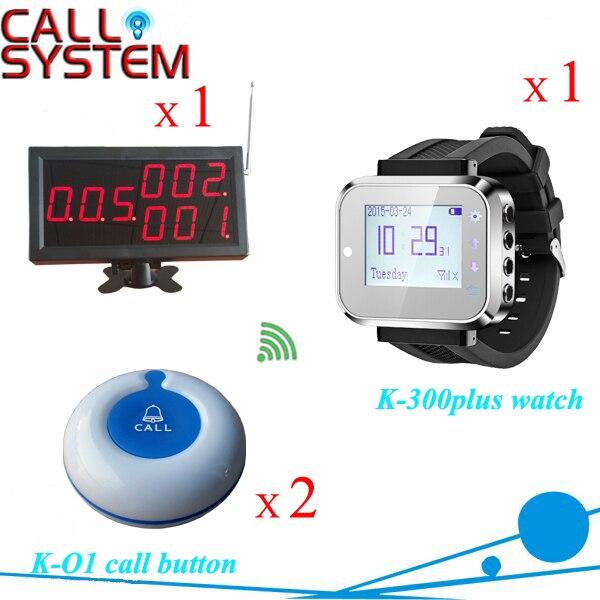 Electronic wireless paging services 1 desktop receiver 1 watch clock 2 bells buzzer 433mhzElectronic wireless paging services 1 desktop receiver 1 watch clock 2 bells buzzer 433mhz