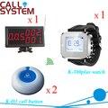 Serviços de paginação sem fio 1 receptor de mesa 1 relógio relógio eletrônico 2 sinos buzzer 433 mhz