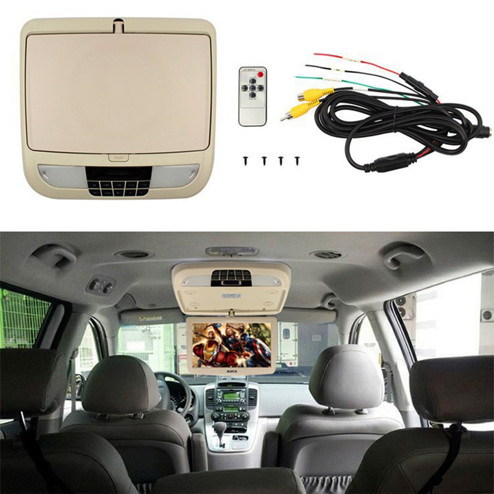 9 Inch TFT LCD car HDMI Monitor Roof mount ceiling flip down for peugeot Display DVD Player with Two Video Input Slim HD monitor 10 4 inch tft lcd car monitor roof mount ceiling flip down display connect car dvd player ir emission video auto slim monitor