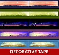 5pcs Lot 10 Meter Long Chinese Original Color Washi Paper Tape Night Scene Scrapbooking Tape Set