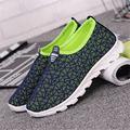 2017 nueva tela Neta Mujeres hollow hoja de fondo Plano zapatos de moda de ocio transpirable zapatos Para Caminar zapatillas deportivas mujer