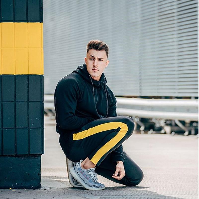 HTB1EHaTXeL2gK0jSZPhq6yhvXXaH ENJPOWER New Men Pants Hip Hop Fitness clothing Joggers Sweatpants Side stripe classic fashion Streetwear Track Pants Trousers