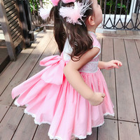 2019 Summer Baby Girls Cotton High Quality Dress Spanish Girls Court Dress Lace Girl Dress Princess Dress Lol Doll Clothes