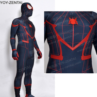 High Quality Black Civil War Spiderman Costume Red Black Tom Holland Spider Man Suit Adult New