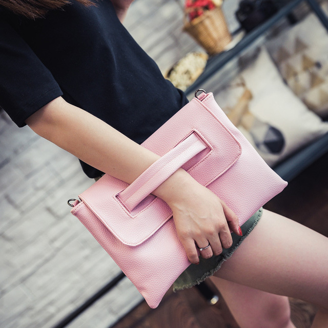 fashion Designer Women Leather Handbags Day Clutches Bags Black Crossbody Bags Messenger Bags Ladies Envelope Evening Party Bags
