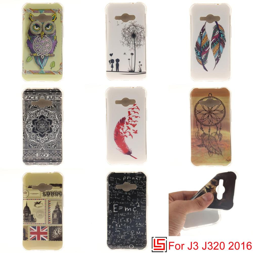 Art Ultra Thin TPU Silicone Soft Phone Cell Case cubierta Cover Cove For Samsung Sumsang Samsuns Galaxy J3 2016 J 320 3 J320