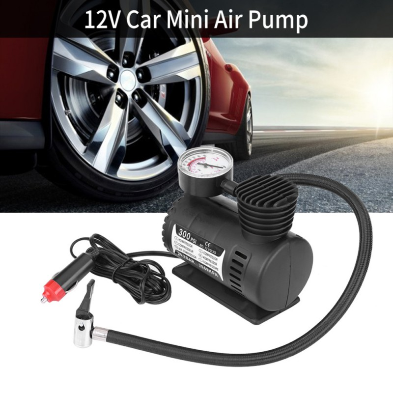 12V 300PSI автомобильный портативный мини электрический воздушный компрессор комплект для шарового велосипеда мини-насос для шин автомобильны...