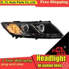 Автомобильный Стайлинг для Kia K5 фары 2011- K5 led фара светодиодный проектор DRL фар H7 Биксеноновая разрядная лампа высокой интенсивности для объектива