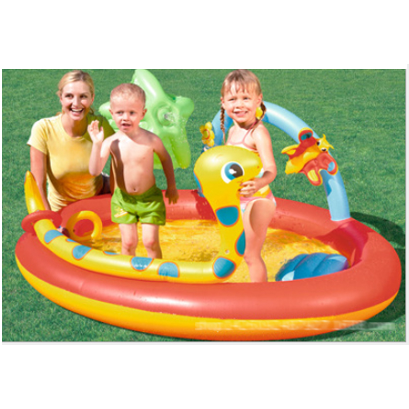 192*150*88 Lovely Baby Play Pool  Inflatable Marine Ball Water  Pool Infants Thickening Fishing Swimming Pool zwembad A102 environmentally friendly pvc inflatable shell water floating row of a variety of swimming pearl shell swimming ring