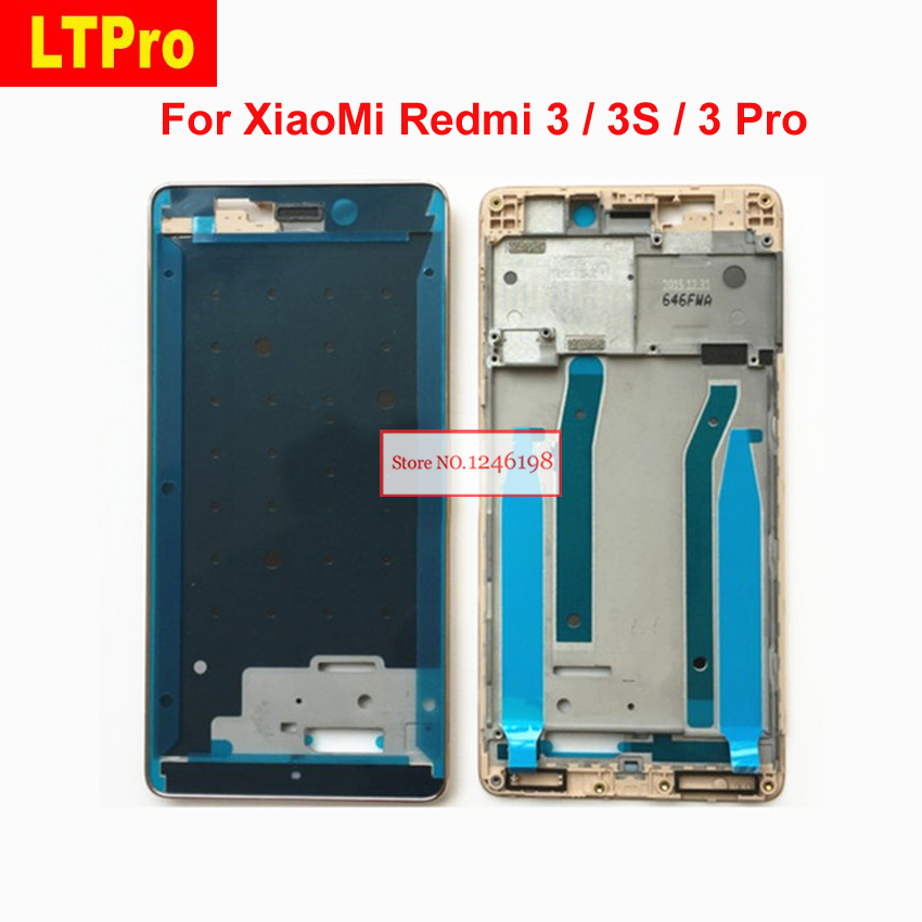 LTPro Gold Silver NEW For Xiaomi Redmi 3 / 3s / Redmi 3 Pro Screen LCD Supporting Middle Frame Front Bezel Housing Replacement