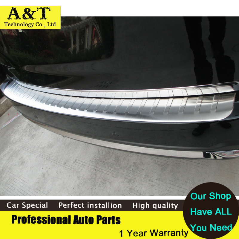 car styling Stainless Steel Rear Bumper Sill Protector For 2013-2016 Forester Rear rear fender Guard car styling cover detector stainless steel inner built rear bumper protector trim plate pedal 1pcs for su6aru outback 2015