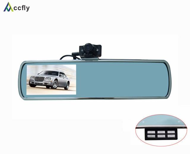 DV710 4.3 inch dual lens car dvr mirror rearview camera,dashcam Full HD 1080P Motion detection
