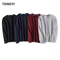 Tsingyi Hot Sale Solid Skateboard Hoodies Men Women Spring Autumn O Neck Long Sleeve Cotton Sudadera