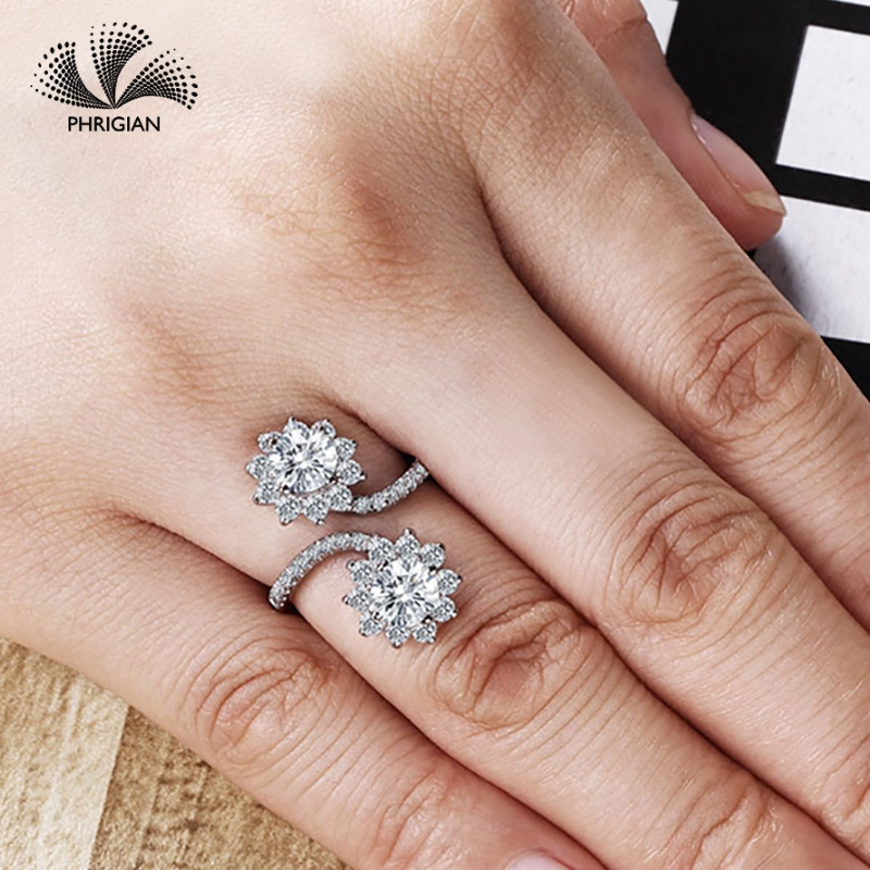 Sona NOT FAKE Fine Engraving Ring S925 Sterling silver Diamond Custom ring Original Design 925 round cut 4 clawsSona NOT FAKE Fine Engraving Ring S925 Sterling silver Diamond Custom ring Original Design 925 round cut 4 claws
