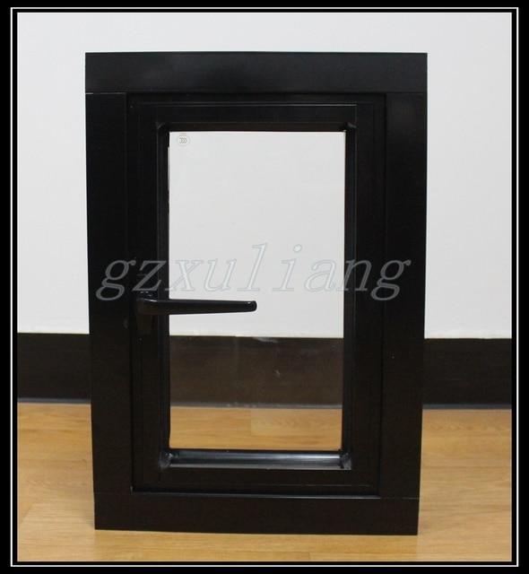 Color negro vidrio marco de aluminio ventana abatible en Ventanas de ...