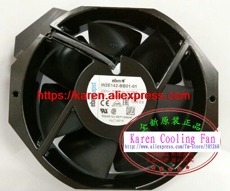 New Original ebm papst W2E142-BB01-01 17238 7056ES UPS 230V cooling fan free shipping via dhl brand new original ebm papst r2e280 ae52 17 230v 50hz 1 0a 225w turbo centrifugal cooling fan