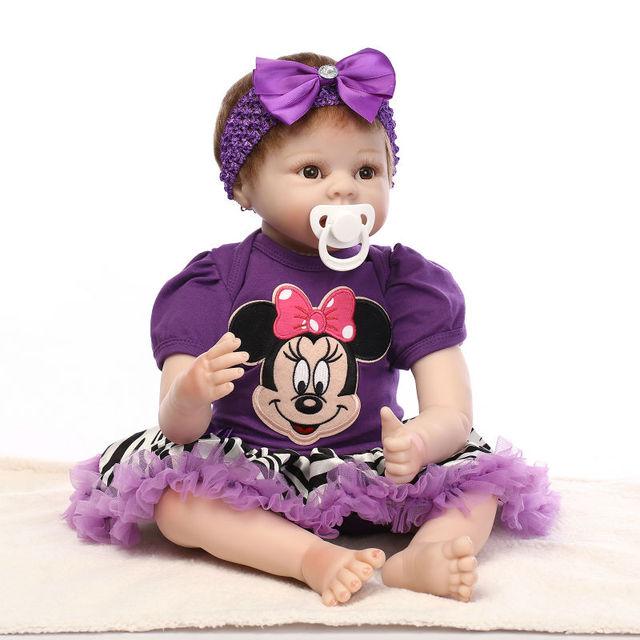 Новые Силиконовые Возрождается Кукла Реалистичные Ребенок Новорожденный 55 см Красивый Ребенок-Reborn Куклы Рождественский Подарок На День Рождения Brinquedos для детей