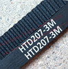 10 pieces/pack HTD3M timing belt length 207mm teeth 69 width 9mm rubber closed-loop 207-3M-9 207 HTD 3M 9 pulley CNC machine
