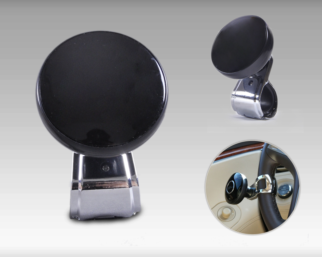 beler New 1Pc Car Wheel Steering Power Handle Grip Ball Knob Interior Decoration Hand Control Power Booster Grip Spinner Tool