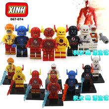 8pcs The Flash Barry Allen Zoom Justice League Action Figure SUPER HEROES minifig Assemble Model Building Blocks Kids Toys(China)