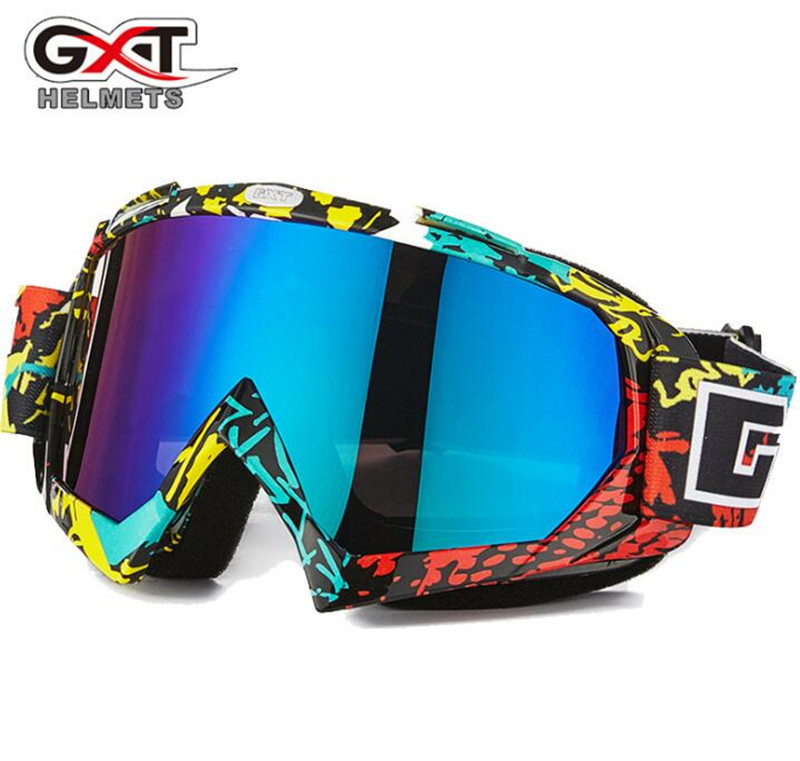 GXT Motocross Goggles Motorcycle Glasses ATV MTB Windproof Skiing Moto Bike Goggles Glass Dirt Bike Helmet Visors Lens