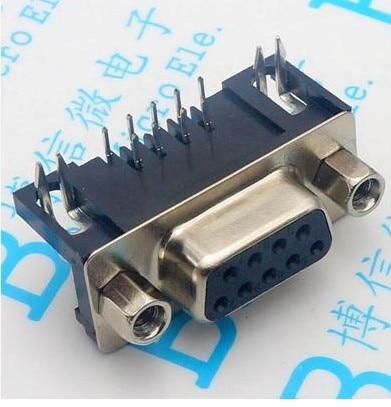 2PCS VGA DB15 15Pin D-SUB 3 Row Female Right Angle PCB Solder Cable Connector NI